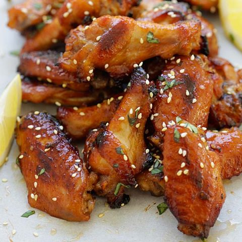 Honey Miso Chicken Wings