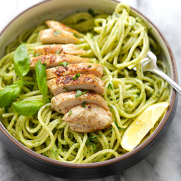 Pesto Pasta with Chicken