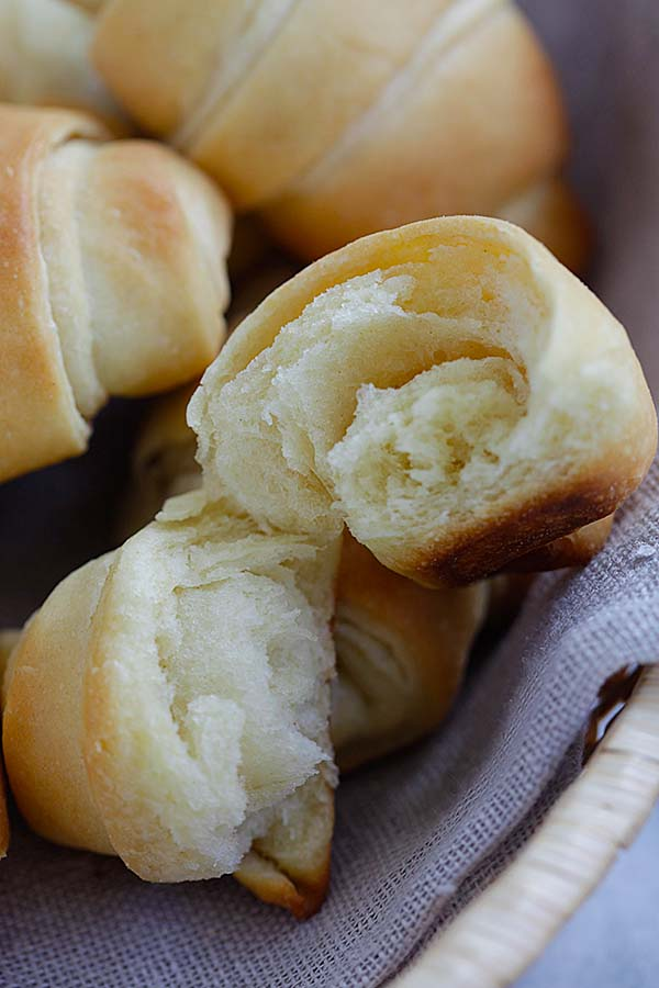 Easy Potato Rolls - the best, softest, pillowy homemade potato rolls recipe ever! From Oh Sweet Basil cookbook. Fail proof and SO GOOD | rasamalaysia.com