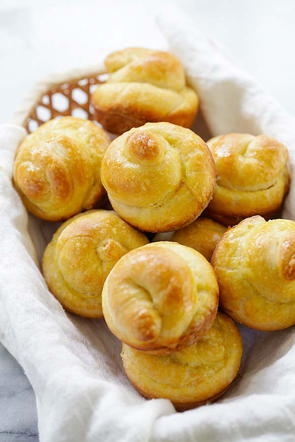 Delicious, flaky and buttery homemade French Brioche rolls recipe.