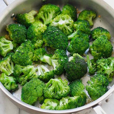 brown butter garlic honey roasted broccoli