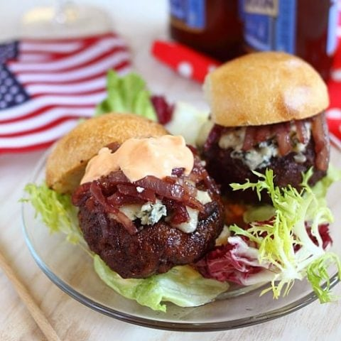 Cabernet and Gorgonzola Burger Sliders