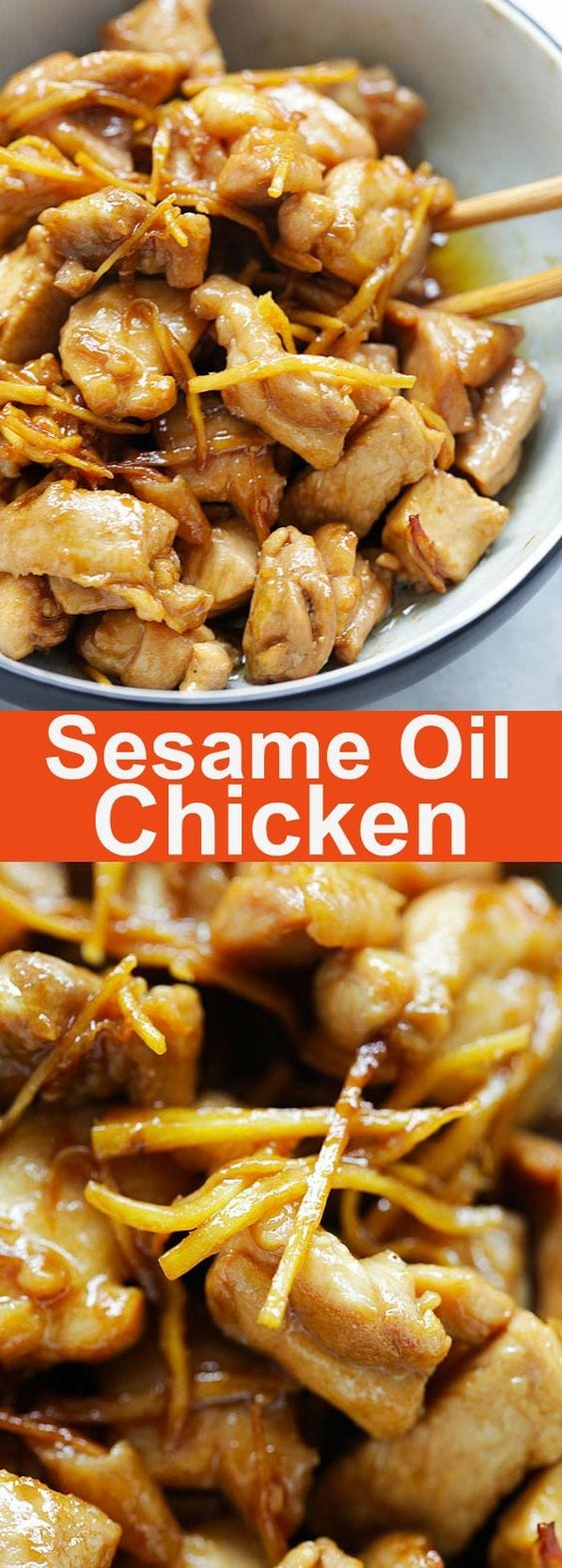Sesame Oil Chicken (麻油鸡) recipe - This a really homey and humble chicken dish that is both delicious and easy to make. It takes only a few ingredients, and the great taste complements steamed white rice.   rasamalaysia.com