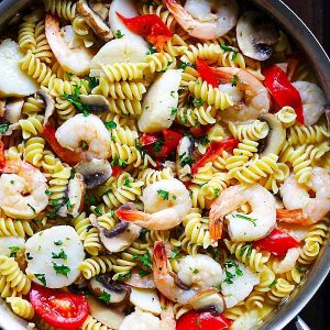 Scallop and Shrimp Pasta