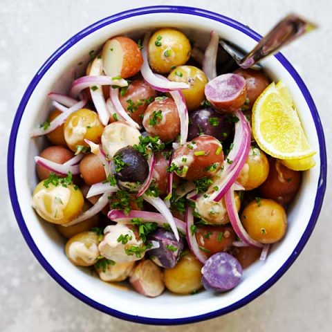 baby potatoes salad