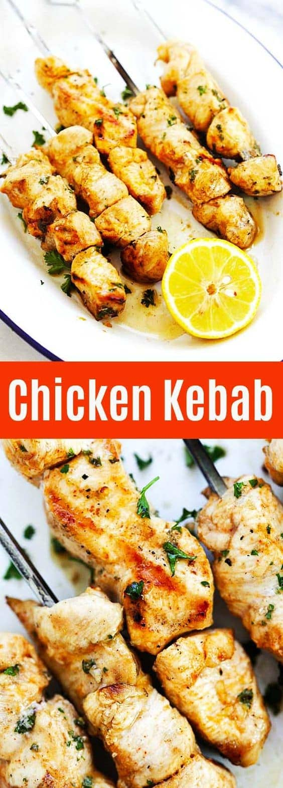 Chicken Kebab - easy recipe with the juiciest and best kebab ever! Threaded on skewers and marinated with olive oil, lemon juice, paprika, garlic and cumin | rasamalaysia.com
