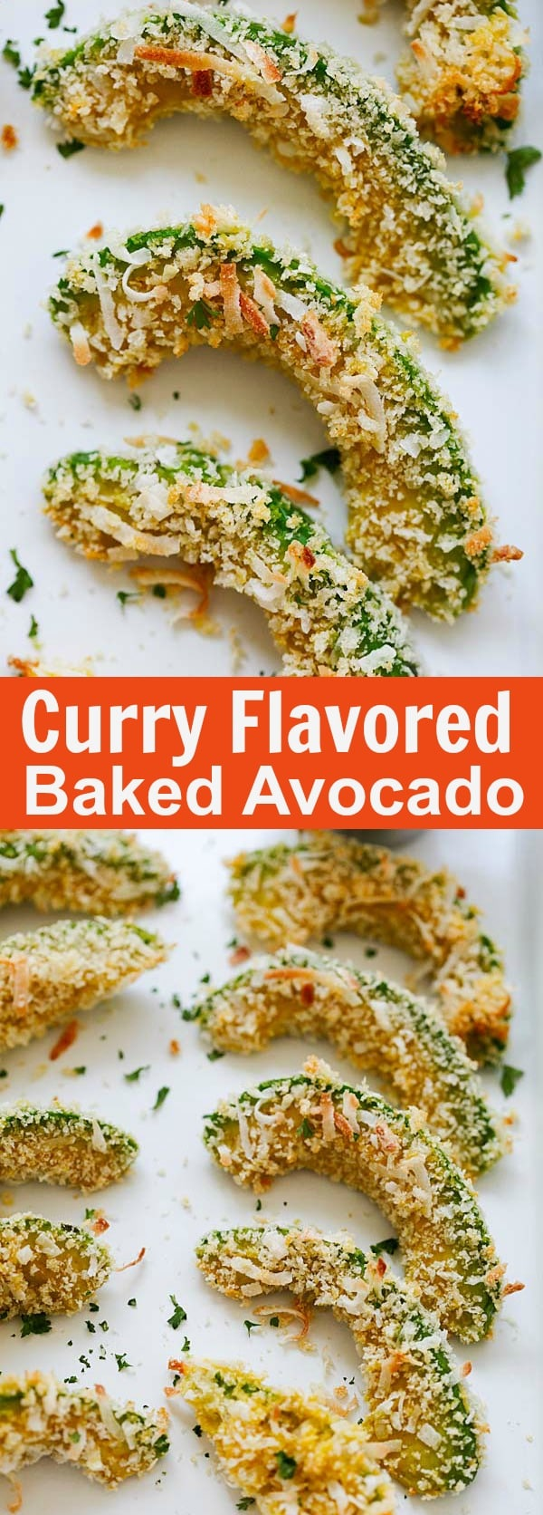 Curry-Flavored Baked Avocado - spice up baked avocado with curry powder. These avocados are so good, healthy and takes only 20 minutes to make | rasamalaysia.com