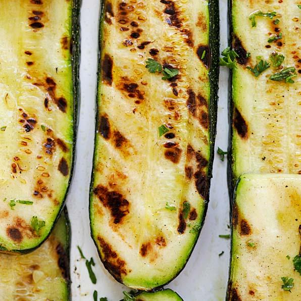 Grilled Lemon Butter Zucchini