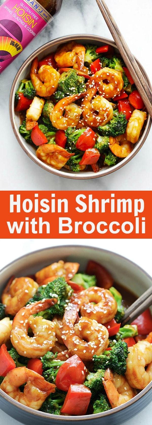 Hoisin Shrimp with Broccoli – Juicy shrimp stir-fry with San-J Hoisin Sauce and healthy broccoli. The easiest dinner for the entire family | rasamalaysia.com