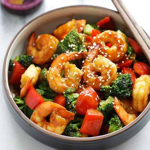 Hoisin Shrimp with Broccoli