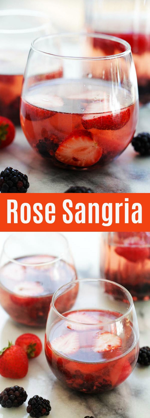 Rosé Sangria – the only summer drink you'll need. This Rosé Sangria recipe is refreshing, bubbly and loaded with summer berries | rasamalaysia.com