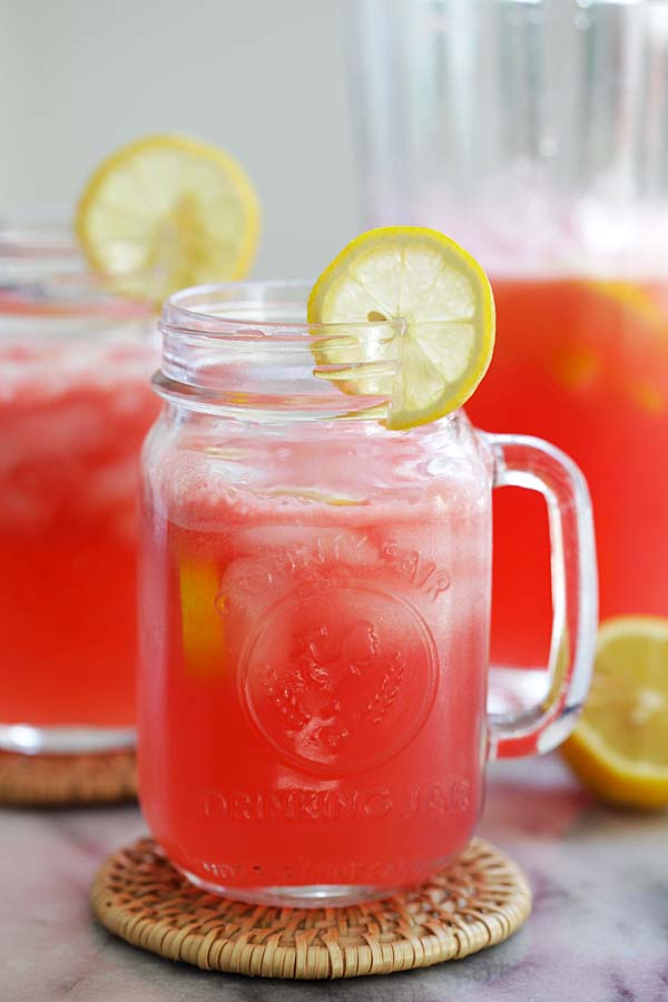 Sparkling Watermelon Lemonade Easy Delicious Recipes