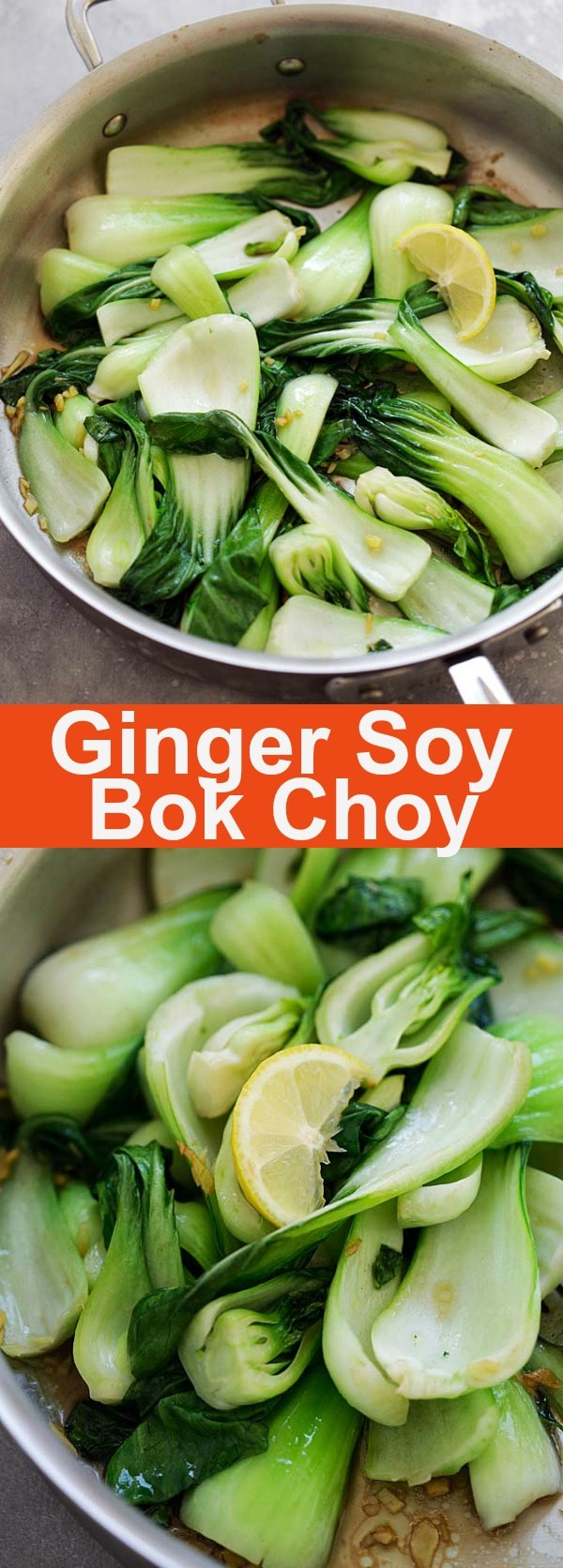 Ginger Soy Bok Choy - the easiest and healthiest bok choy recipe ever. Calls for only 5 ingredients and 10 minutes to make. It's so delicious   rasamalaysia.com