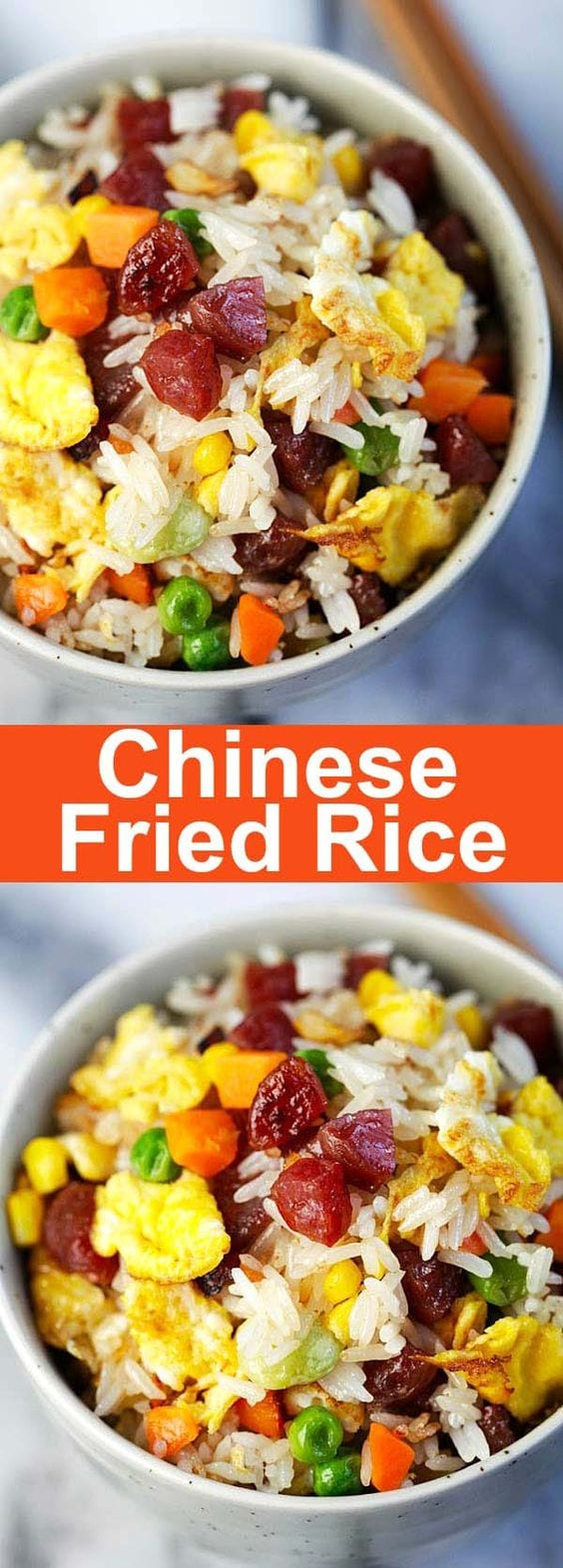Chinese fried rice easy delicious recipes rasa malaysia fried rice homemade chinese fried rice recipe with chinese sausage vegetables eggs and forumfinder Image collections