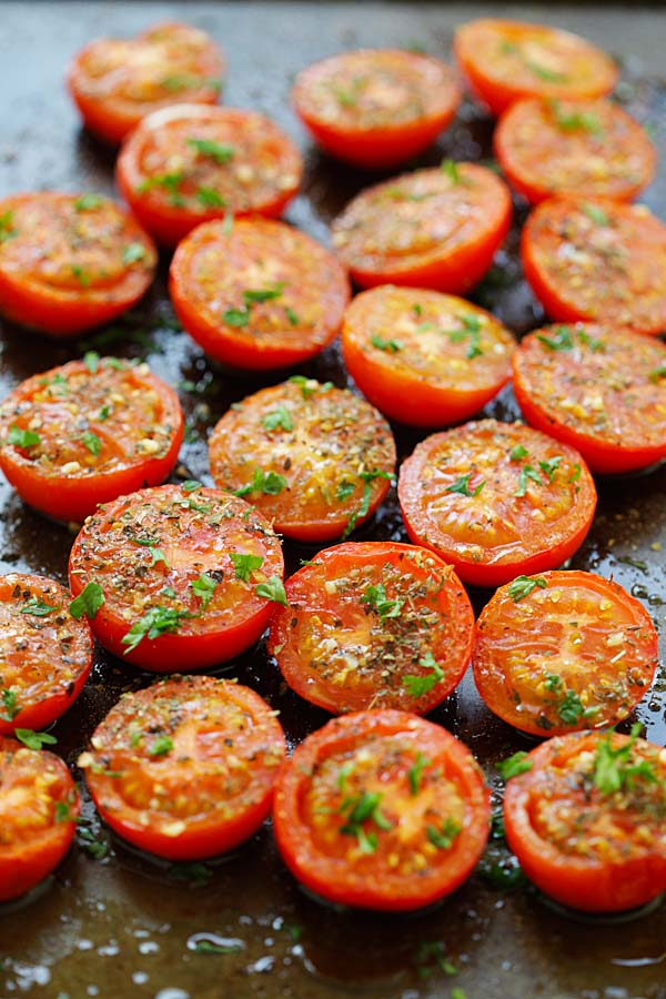 Herb Roasted Tomatoes Easiest