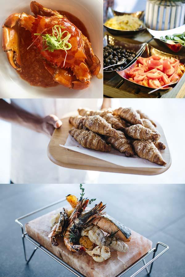 Anantara Dhigu Resort and Spa Maldives food.