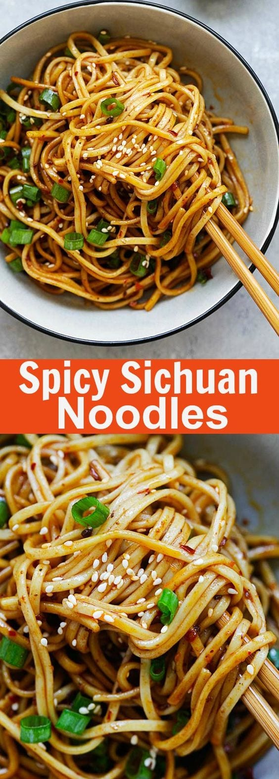 Spicy Sichuan Noodles - cold noodles in a spicy, savory and numbing Sichuan sauce. This Sichuan noodles recipe is so addictive and delicious | rasamalaysia.com