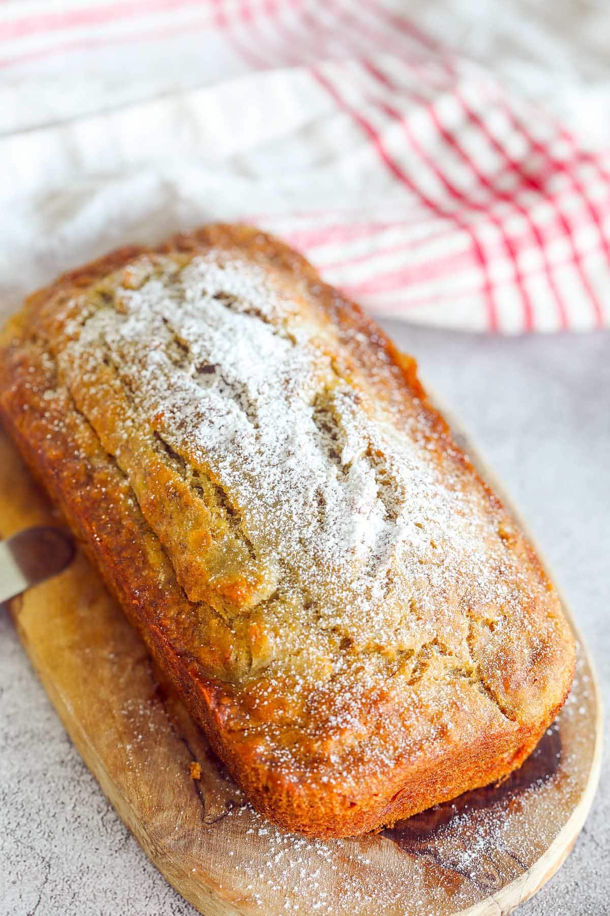 Moist banana bread.