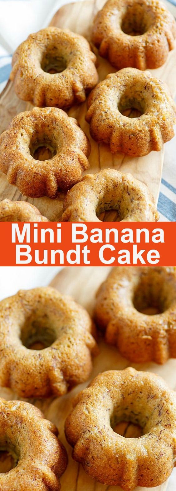 Best Banana Bundt Cake - moist and yummy banana bundt cake, baked in mini bundt pans. Loaded with bananas, this is the best bundt cake ever | rasamalaysia.com