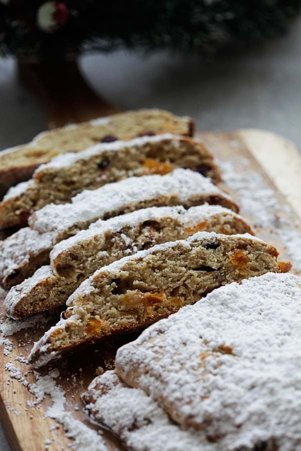 Holiday Bread - delicious homemade holiday bread recipe loaded with pecans and dried fruits. This bread is all you need for holidays | rasamalaysia.com