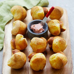 Popovers with Strawberry Butter