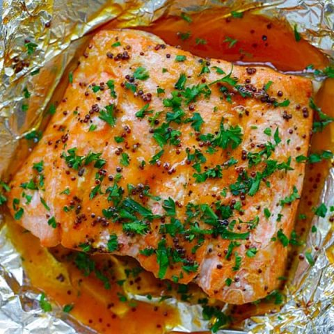 Spicy Honey Baked Salmon