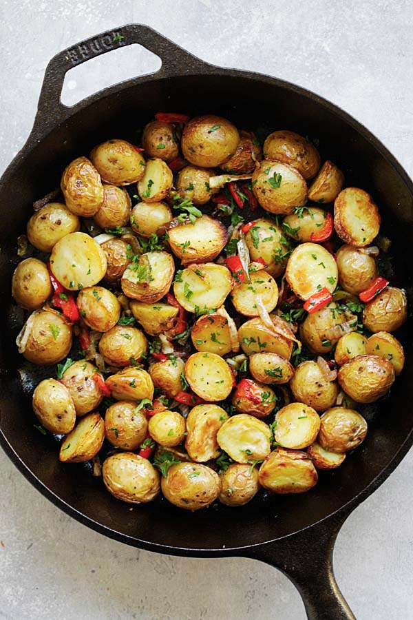 Easy and Quick French-style Roasted Potatoes.