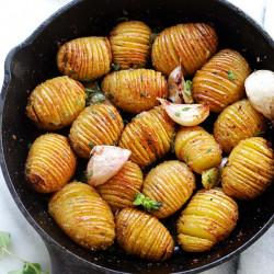 Garlic Butter Hasselback Potatoes