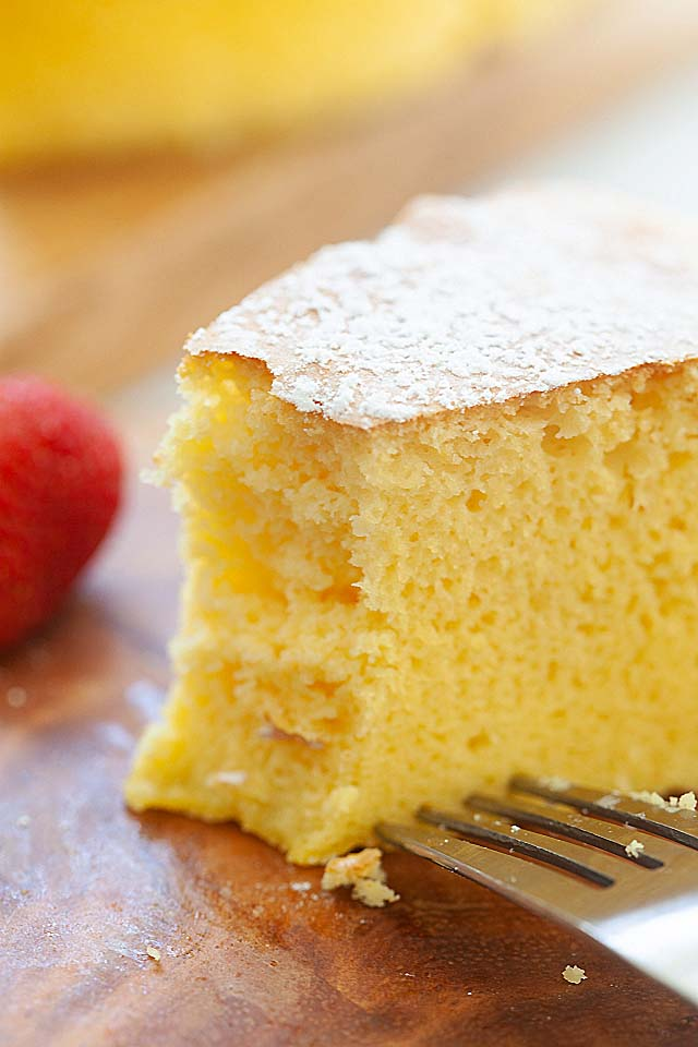 Japanese fluffy cheesecake.