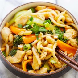 Blue Apron Stir-Fry Chicken with Udon
