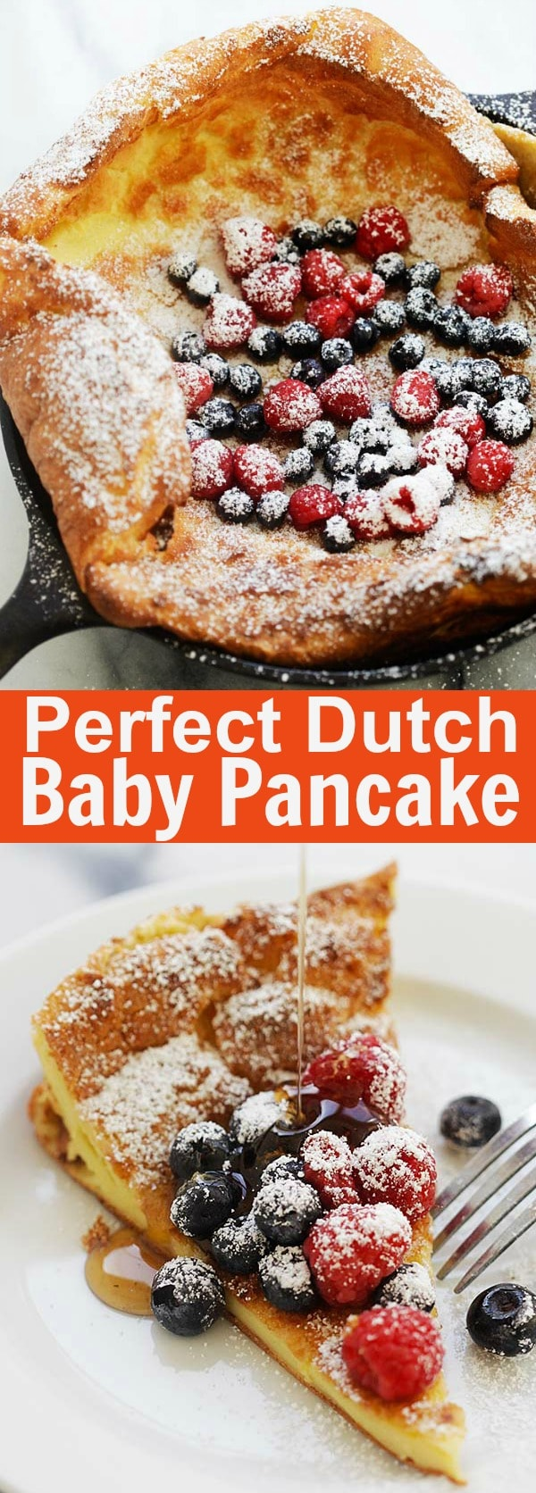 Dutch Baby Pancake - easy and fail-proof Dutch Baby Pancake recipe that calls for only 5 basic ingredients and takes only 5 minutes active time to prep | rasamalaysia.com