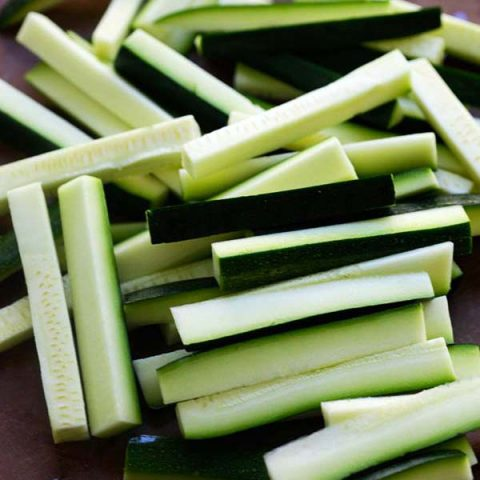 how to cut zucchini fries