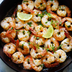 Lemon Herb Butter Shrimp