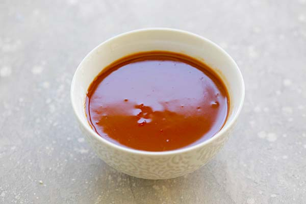 Homemade Sweet and Sour Sauce for chicken wings.