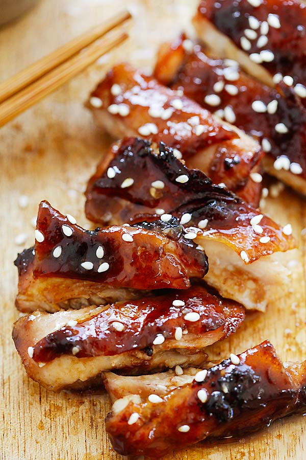 Oven-roasted crispy skinned chicken char siu.