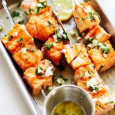 Garlic Butter Salmon Kebab