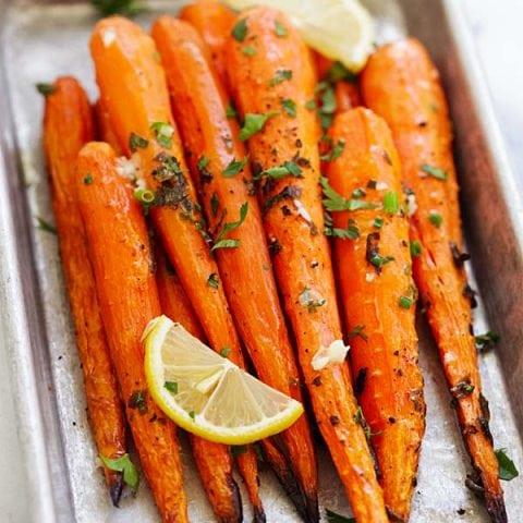Lemon Herb Roasted Carrots