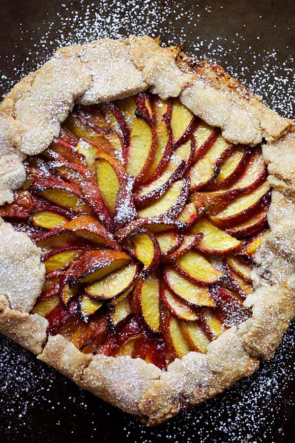 Easy and quick peach tart recipe.