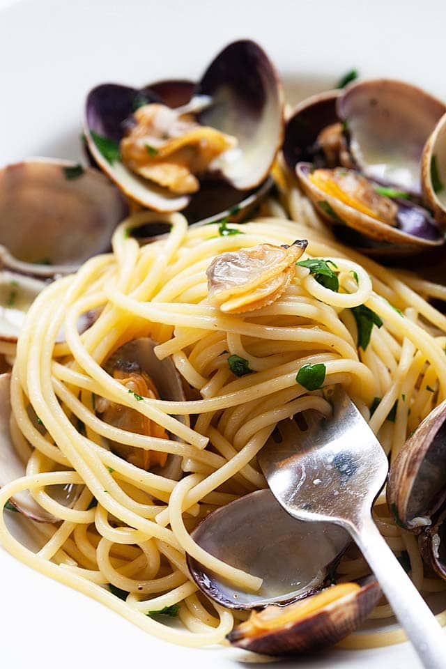 Authentic and the best spaghetti alle vongole.