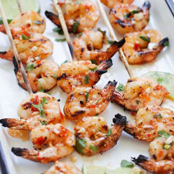 Sweet Chili Shrimp Skewers