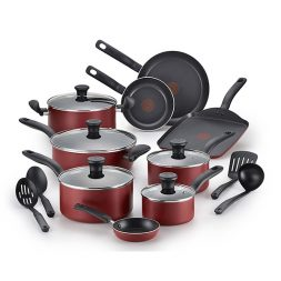 T-fal® B165SI Nonstick Dishwasher Safe 18-Piece Cookware Set Giveaway