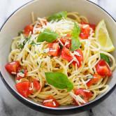 lemon-basil spaghetti
