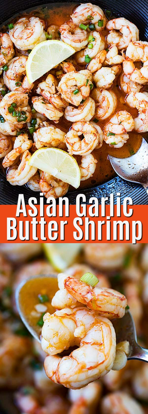 Asian Garlic Butter Shrimp - sauteed shrimp with garlic and butter, with mouthwatering Asian flavors! This recipe is outrageously delicious and calls for only five basic ingredients.