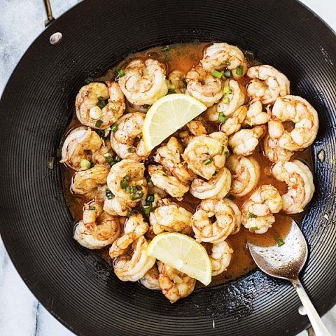 Asian garlic butter shrimp