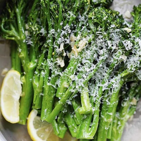 Garlic Parmesan Broccolini