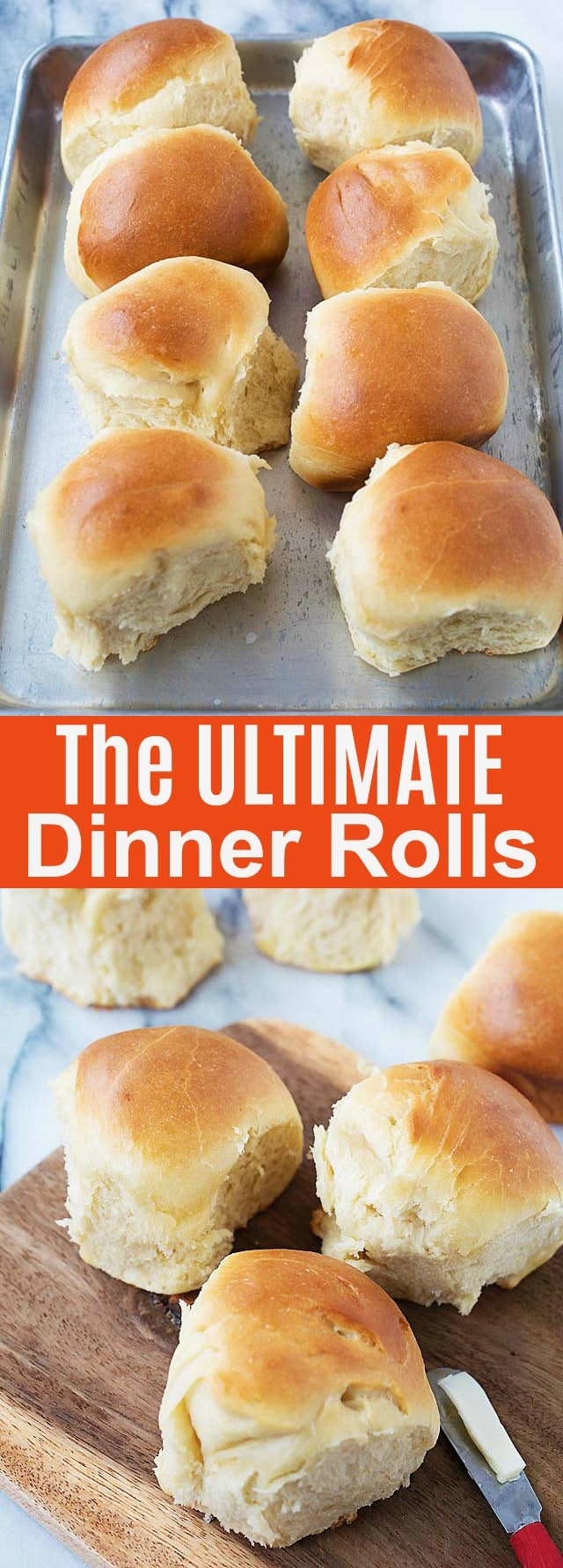 The Ultimate Dinner Rolls - this is the BEST homemade recipe that yields cotton soft, milky, rich and sweet rolls that you can't stop eating. Fail proof and novice baker friendly.
