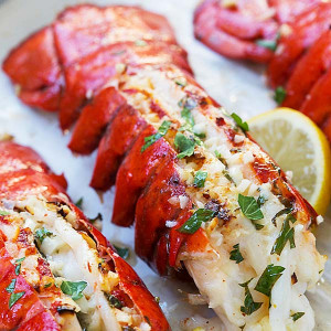 garlic butter lobster tails