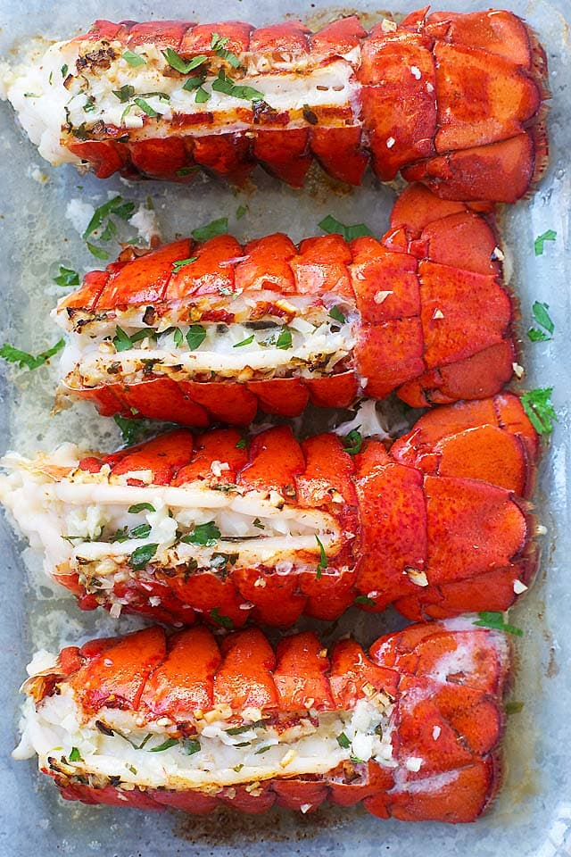 Easy healthy homemade Garlic Butter Lobster Tail.