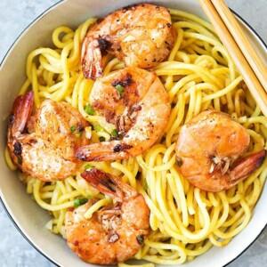 shrimp garlic noodles