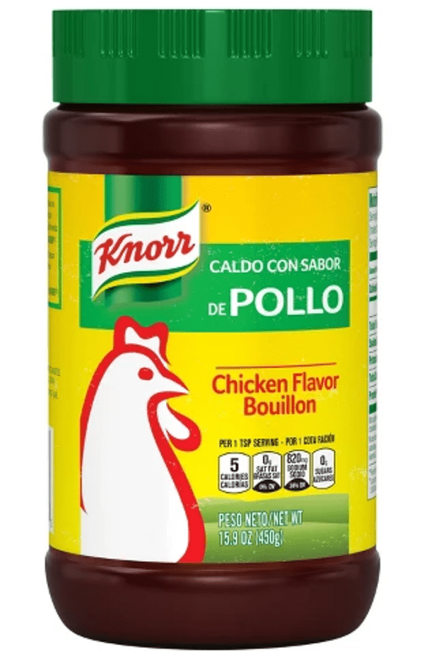 Knorr chicken bouillon powder.